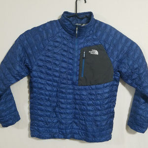 North Face Mens Thermoball Puffer Jacket Coat Blue